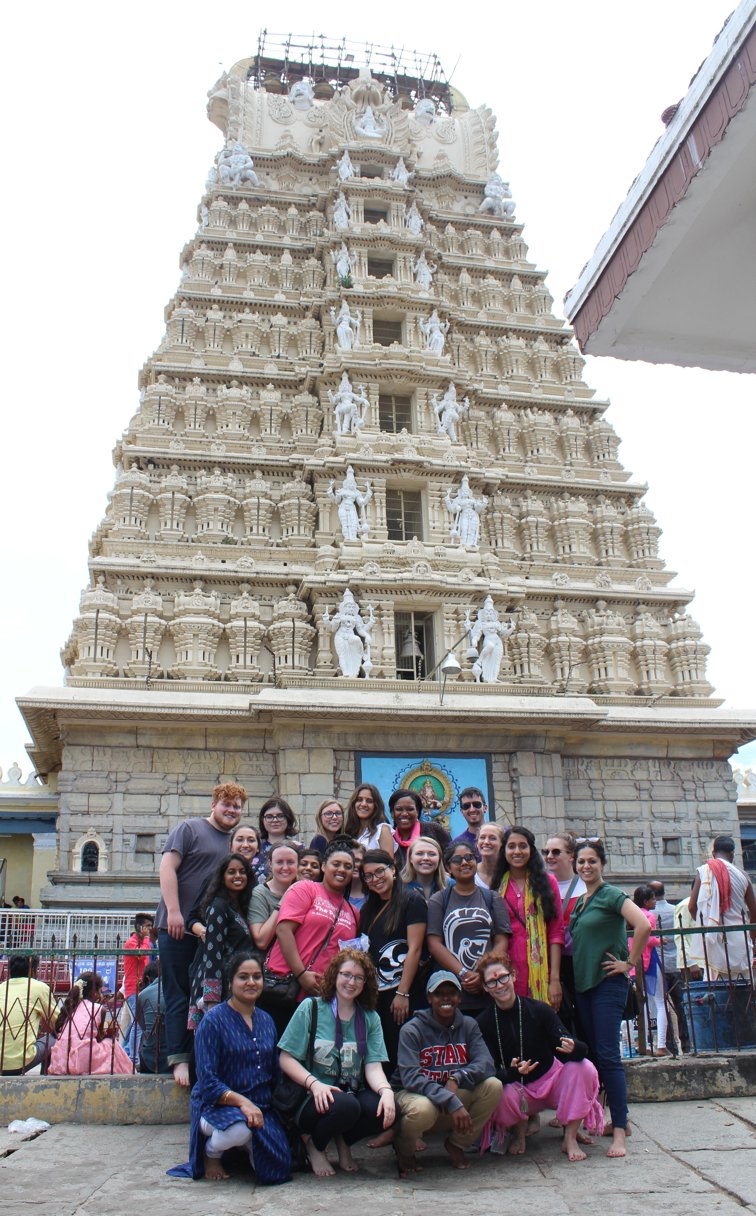 Brittney with her study abroad group in India